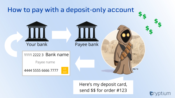 How to pay with a deposit only account