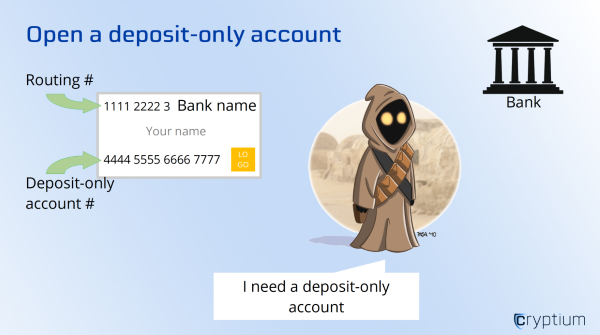 Open a deposit-only account